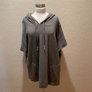 NWOT Anthropologie short sleeve olive tunic Size L